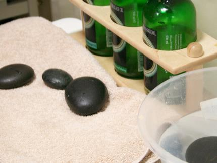 Massage Stone Therapy available at Eden