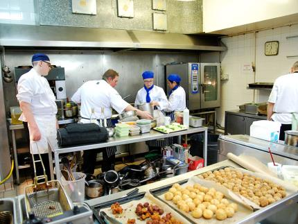 Highbury College students cooking at The Brookfield Hotel Takeover