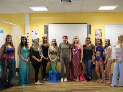Highbury College beauty competition heat second group shot