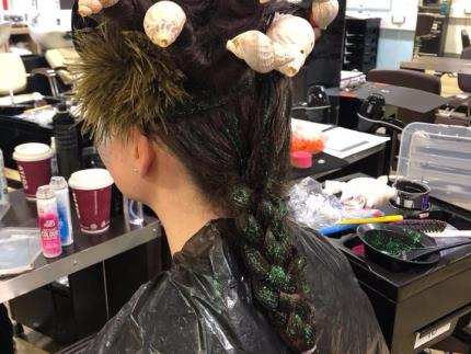 Highbury College Hairdressing competition model