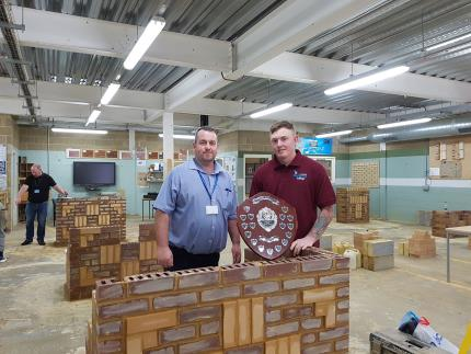 Highbury College students took part in a regional bricklaying competition