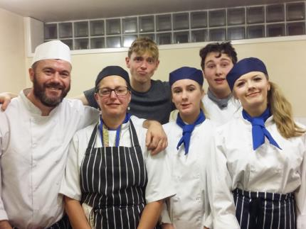Catering students cooked Christmas dinner for homeless people at Hope House in Milton Road, Portsmouth