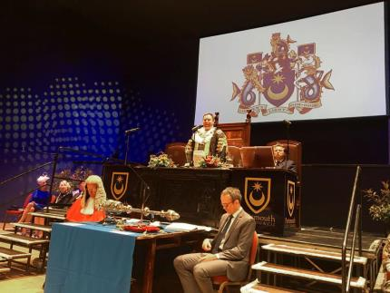 The stage at Portsmouth's mayor-making ceremony