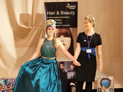 Highbury's Hairdressing and Beauty Therapy Finals with the theme of Passion for Portsmouth.