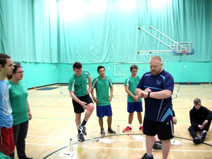 Students using Highbury College's sports centre