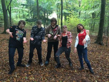 Media students make zombie movies at Queen Elizabeth Country Park