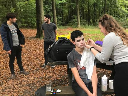 Media students film zombie movie in Queen Elizabeth Country Park