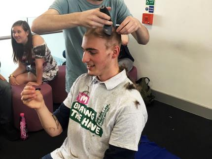Jamie Chevalier-Watts Braved the Shave for friend Steve Jenson