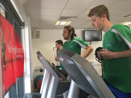 Highbury College public service students virtually ran alongside a Cosham firefighter as he completed the London Marathon