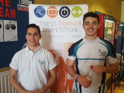 Fitness Trainer Carlos Mattila, who came 2nd in the regional competition, with his client, Byron Schoeman