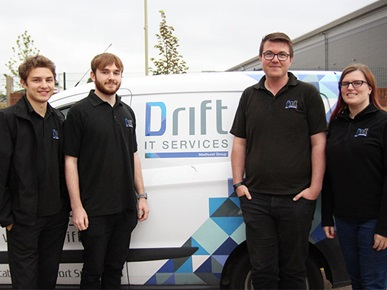 Drift IT apprentices Bradley, Joe, Adam and Lois