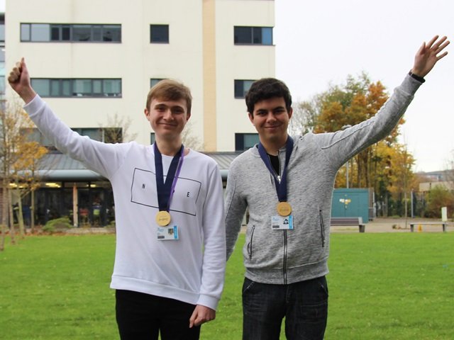 Computing students Abdel and Lewis won gold at the national finals of the WorldSkills competition