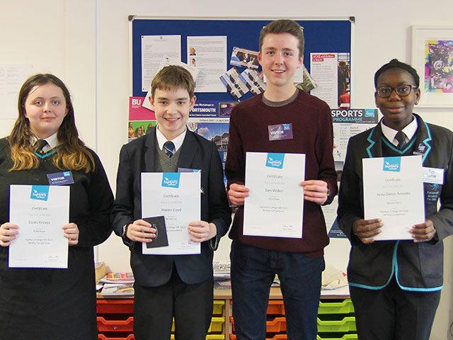 Top marks for Portsmouth's young writers