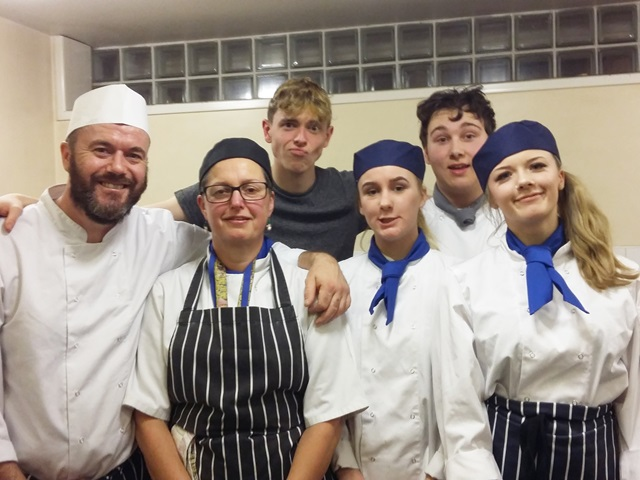 Catering students cook Christmas dinner for homeless people