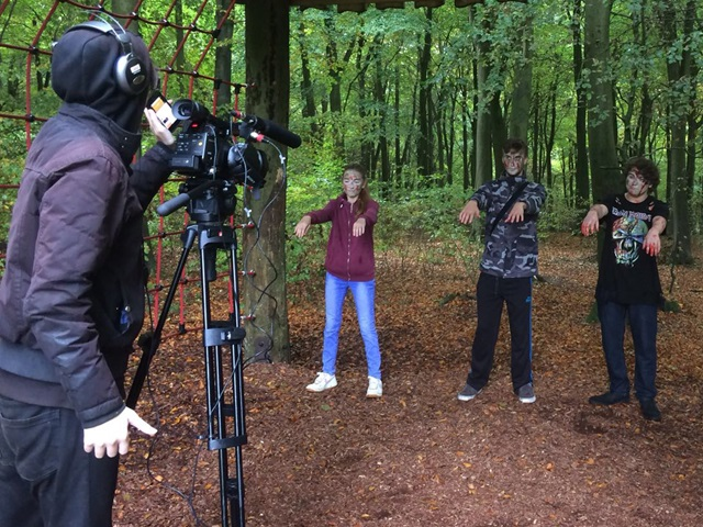 Media students filmed their own zombie movies at Queen Elizabeth Country Park