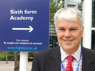 Adam Turner the new 6th Form Academy Director at Highbury College