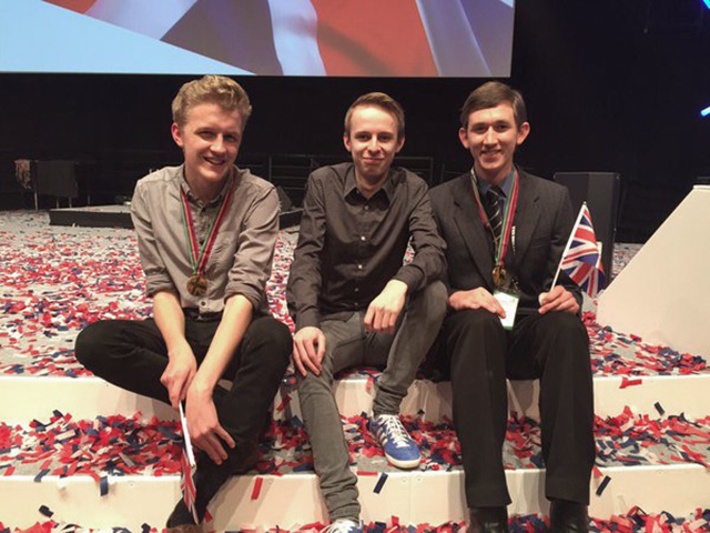 Skills Show winners – Anton Williams, Tom Burton and Andrew Matthews