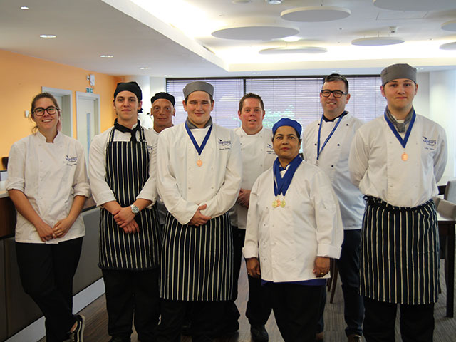 Highbury Team at the Wessex Salon Culinaire competition