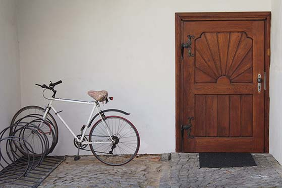 Bicycle locked up at home