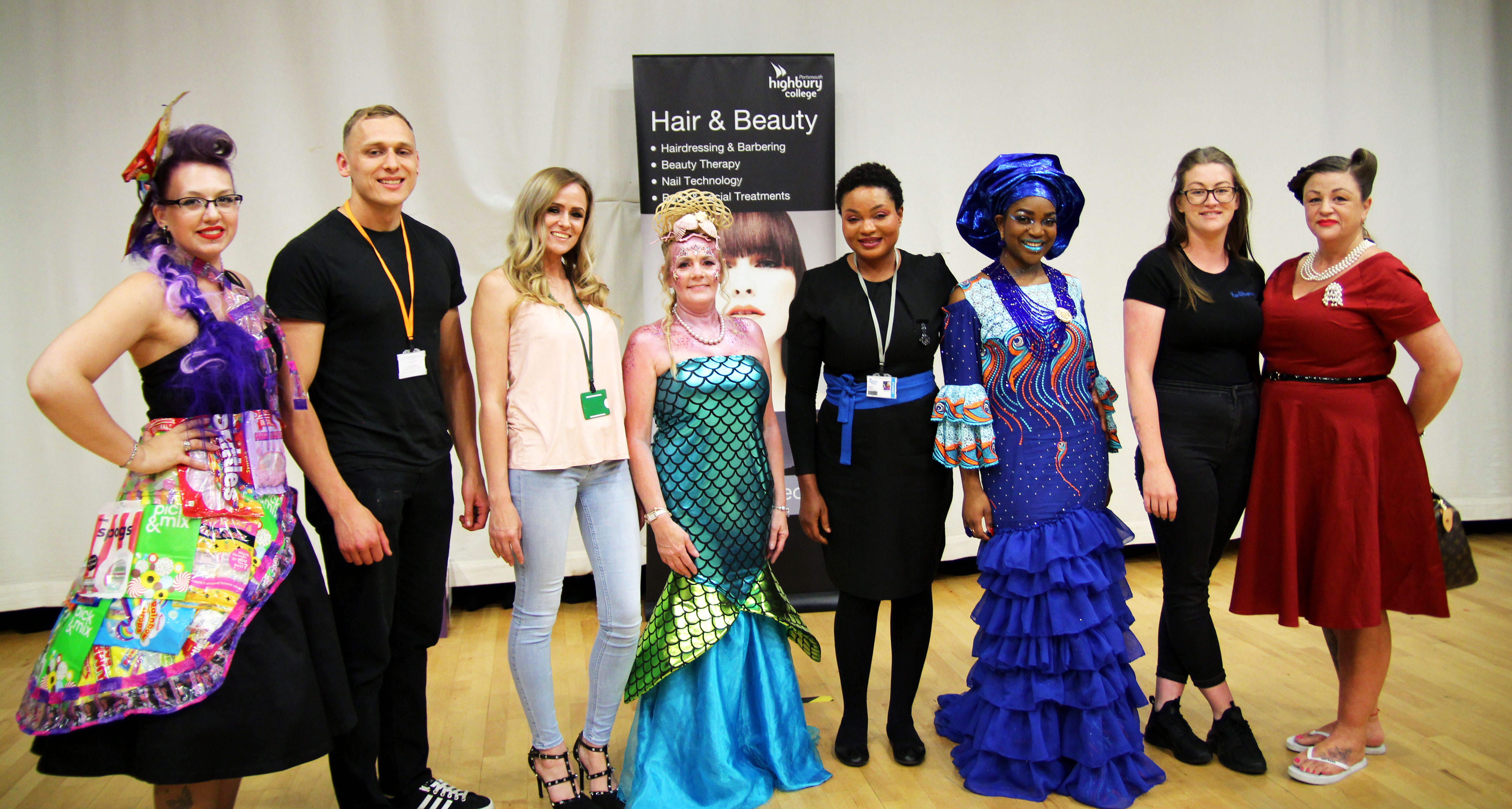 The winners with their models at the Hairdressing and Beauty Therapy Finals