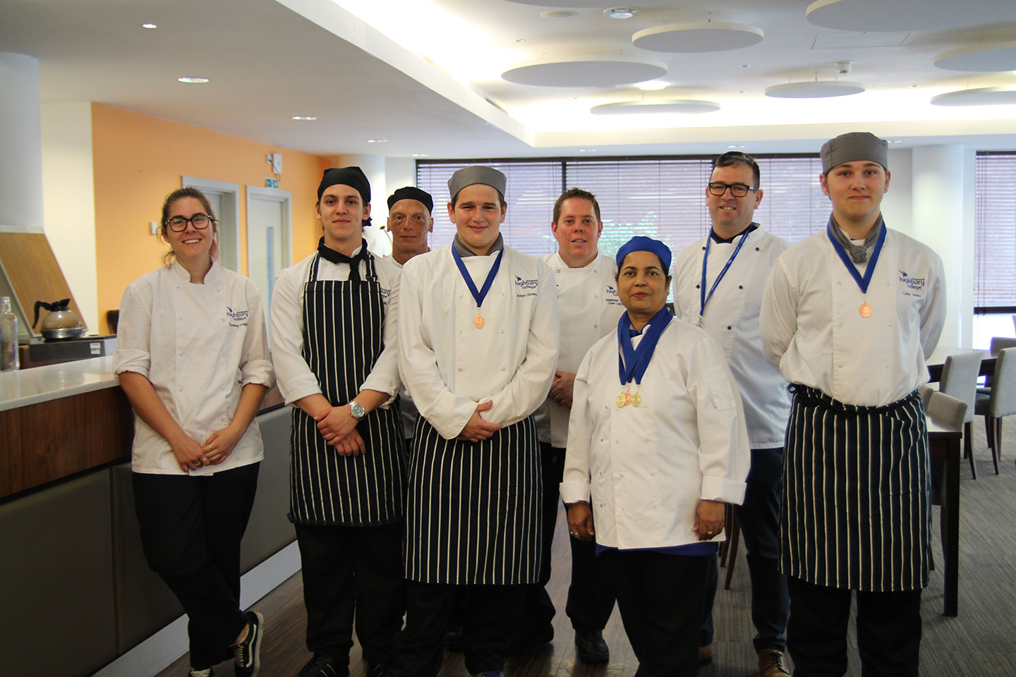 Team Highbury catering students took part in the Wessex Salon Culinaire